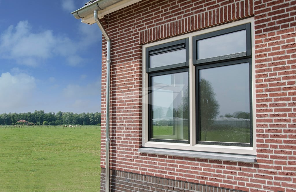 Kunststof raam met Hollandse Hoek®