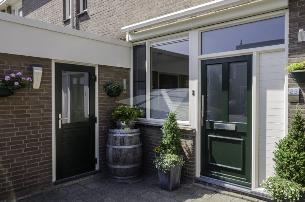 Kunststof achterdeur groen