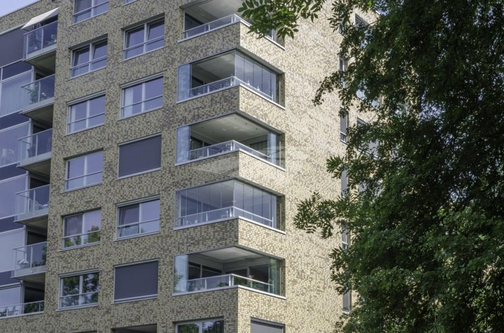 Appartementen met balkonbeglazing