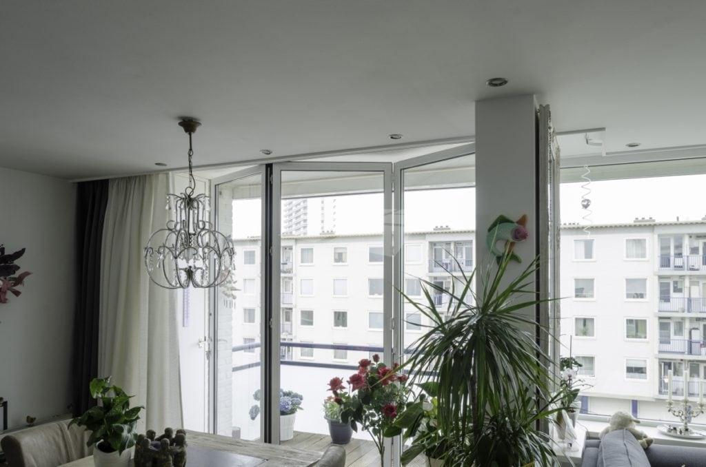 Select Windows kunststof kozijnen - 3-delige aluminium vouwwand - Referentie Vouwwand Zandvoort