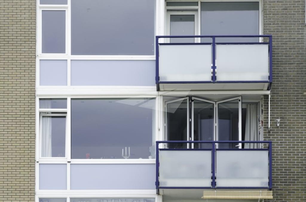 Aluminium vouwwand op balkon