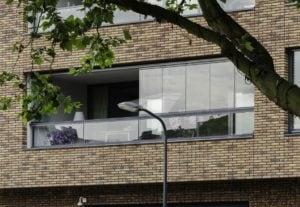Schuifdraaisysteem op balkon
