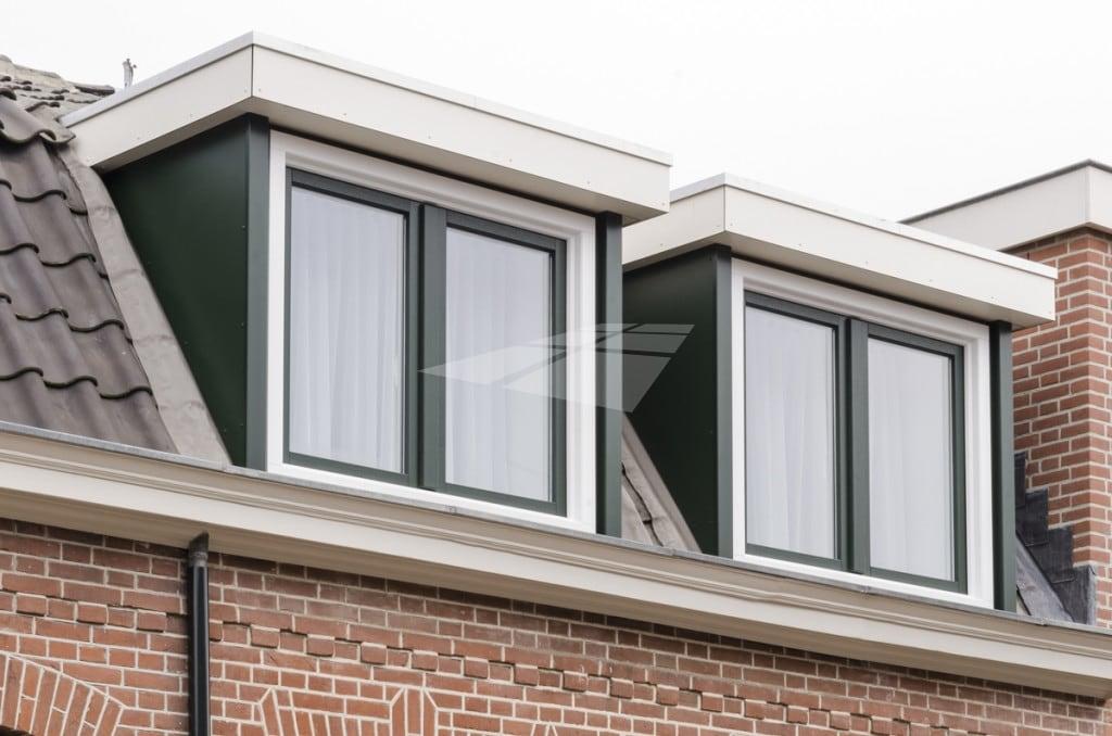 Kunststof dakkapel met stolpramen