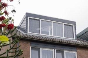 Renovatie dakkapel met kunststof kozijn