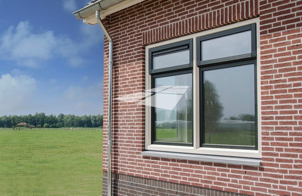 Kunststof ramen met Hollandse hoek