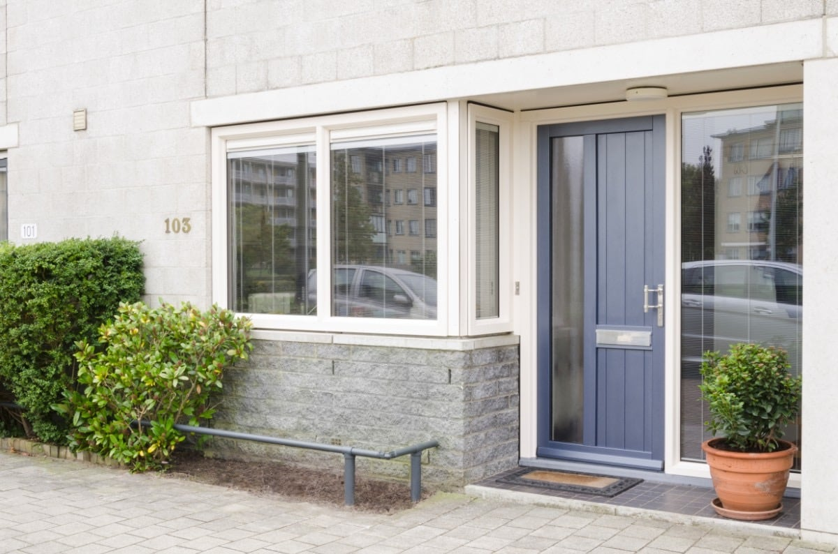 Select Windows kunststof voordeur met vaste ramen - voordeur en schuifpui Amsterdam