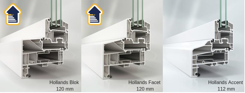 Select Windows Kunststof kozijnen - meer keuze in uitstraling en betere isolatiewaarde - Hollands Blok-Hollands Facet-Hollands Accent Isolerende kozijnen