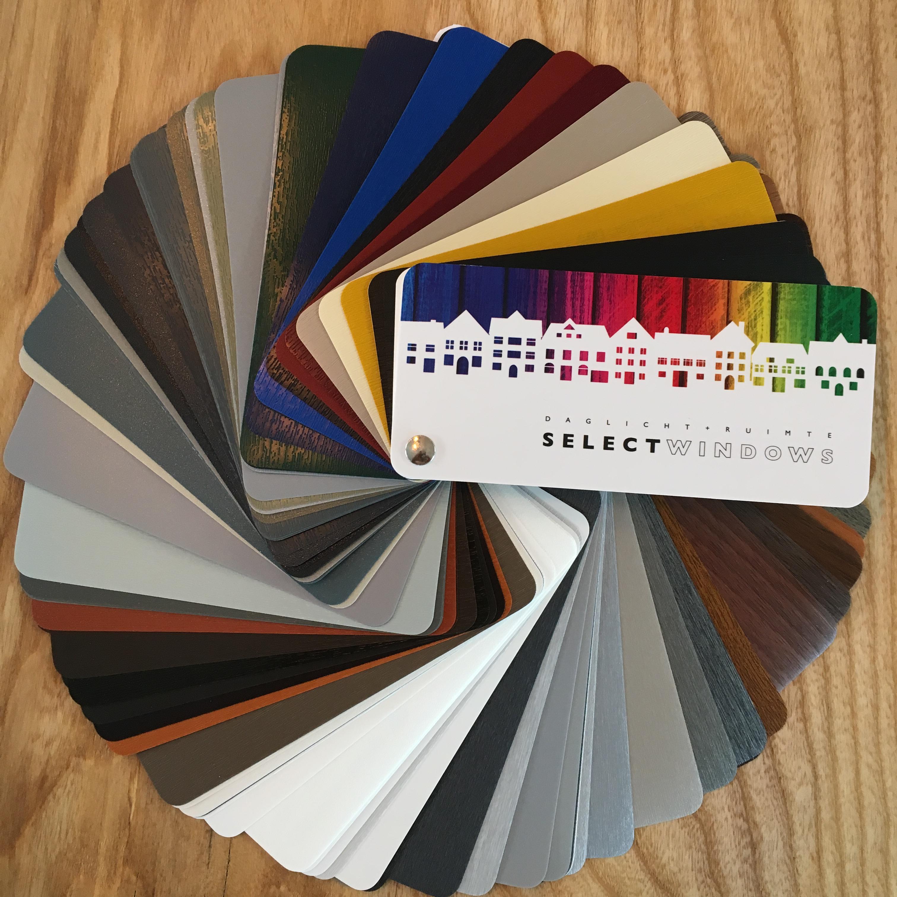 Select Windows Kleurenwaaier 150 kleuren voor kunststof kozijnen