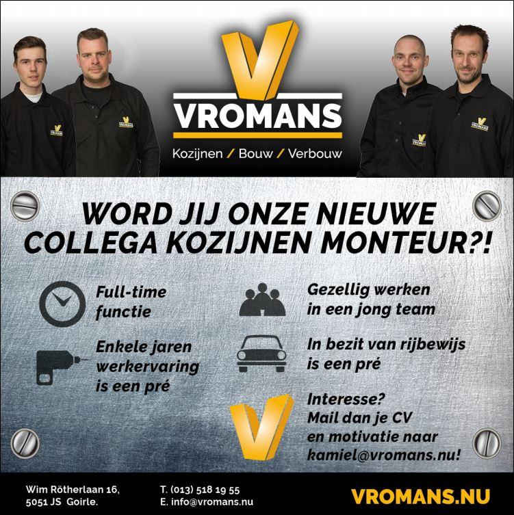 Select Windows kunststof kozijnen - vacature Vromans Kozijnenmonteurs of kozijnen-duo gezocht
