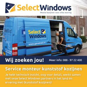 Select Windows Kozijnen - vacature service monteur kunststof kozijnen
