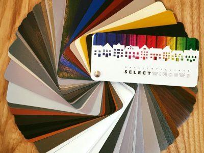 Select Windows kunststof kozijnen - 150 kleuren in de kleurenwaaier